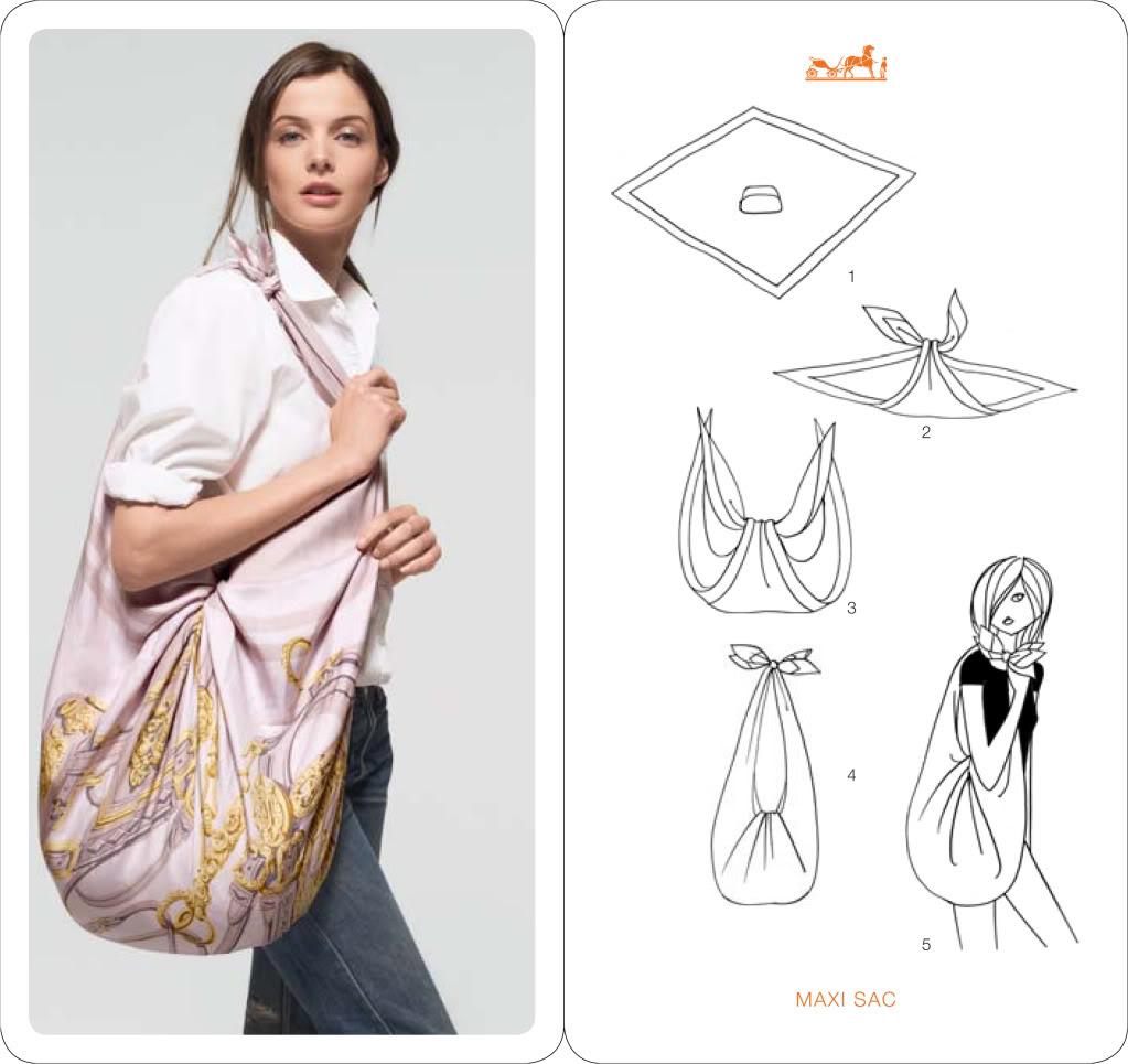 Créez un sac à main avec votre foulard