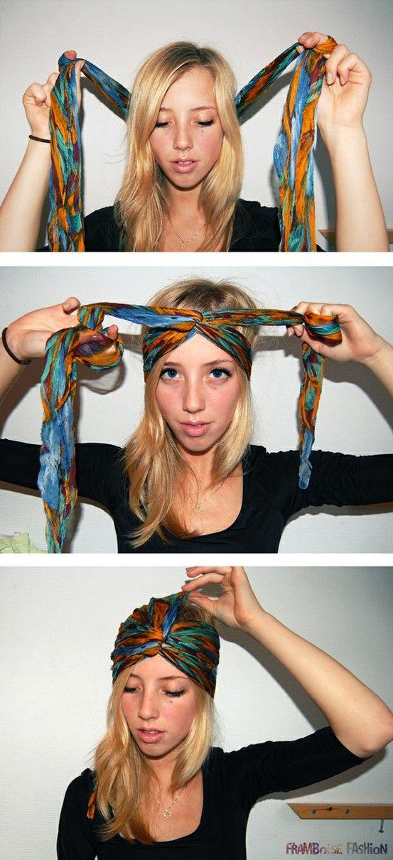 Comment nouer un foulard en turban